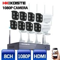 8CH CCTV System Wireless NVR 8PCS 2 0MP IR Outdoor P2P Wifi IP CCTV Security Camera