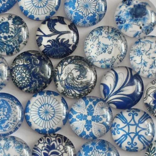 Glass Cabochon Square Porcelain Flatback Photo Base Diy Jewelry Making Accessory