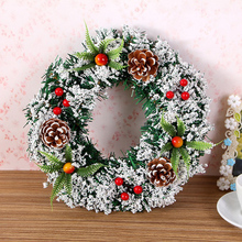 20/30cm Christmas Wreath Large Door Wall Ornament Garland Decoration Fake Fruit Pine Decora for Home