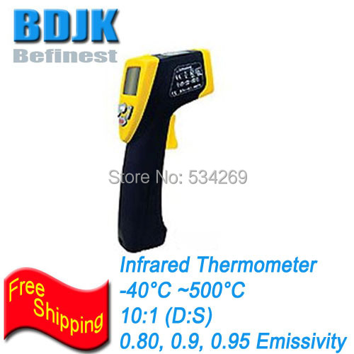 Pocket Infrared Thermometer with Digital Display and Laser Point -40~500 Temperature Measurement