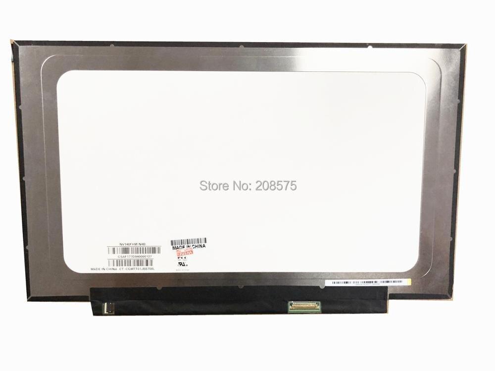 Free shipping NV140FHM-N4B fit NV140FHM-N62 N61 N3B N47 N4C LP140WF7 SPC1 LCD LED Screen 1920*1080 30 PIN IPS saniter notebook lcd screen nv140fhm n62 n61 n3b lp140wf7 spc1 n140hca eba 14 inch laptop screen