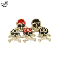 Mix color Crystal Skeleton Snap Button ,Halloween Skull Snap Ginger Charms Button Jewelry Fit 18-20mm Snaps Bracelets SB267