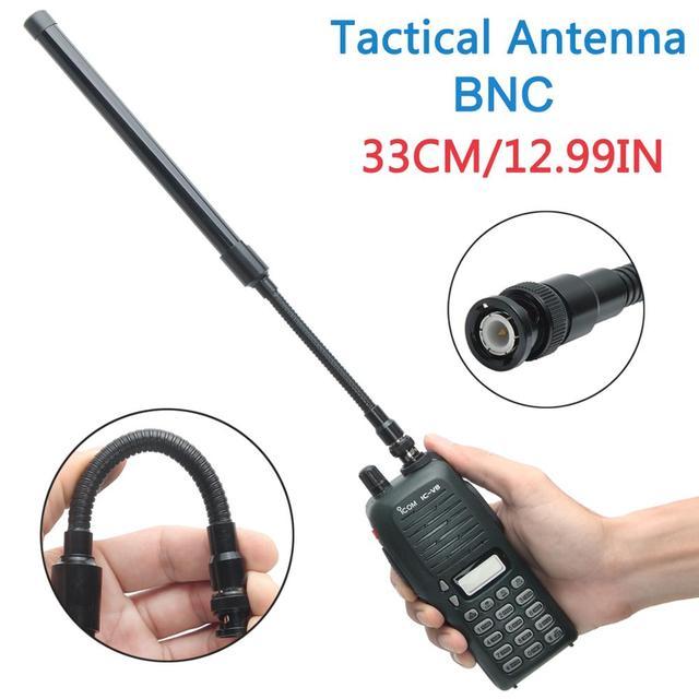 ABBREE BNC Foldable Tactical Antenna Dual Band 144/430MHz for Icom IC V80 IC V82 IC V85 Walkie Talkie Ham Radio