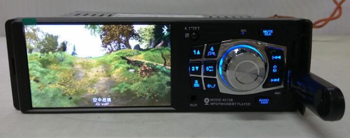 4012B Voiture 1 Din autoradio Auto 4.1 ''HD Voiture lecteur multimédia MP3 MP5 Audio Stéréo Radio Bluetooth FM 4.1 lecteur vidéo