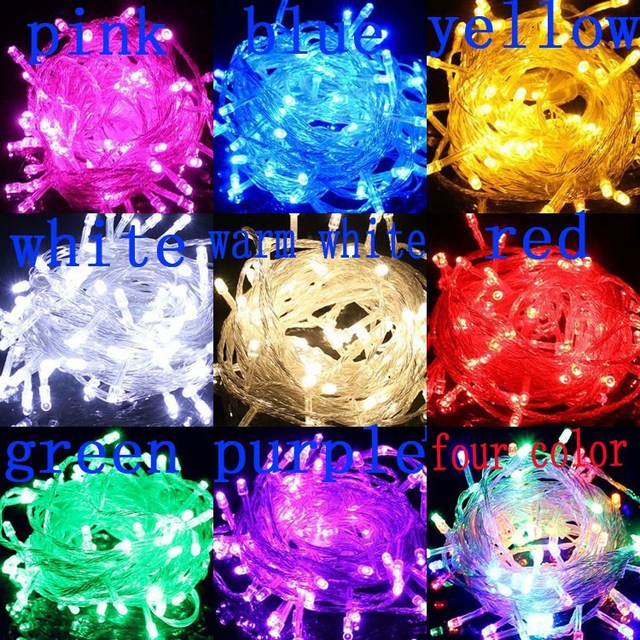 a10m copper wire holiday sale 10m100 led energy string fairy lights warterproof christmas lights garden outdoor - Christmas Light Sales