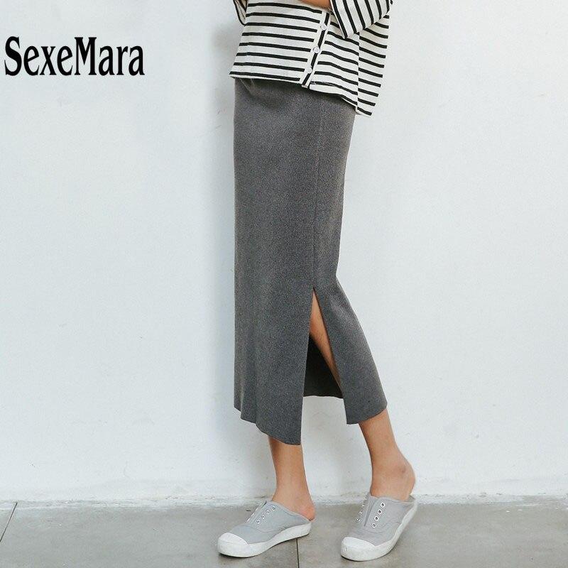 Трикотажные юбки по колено фото