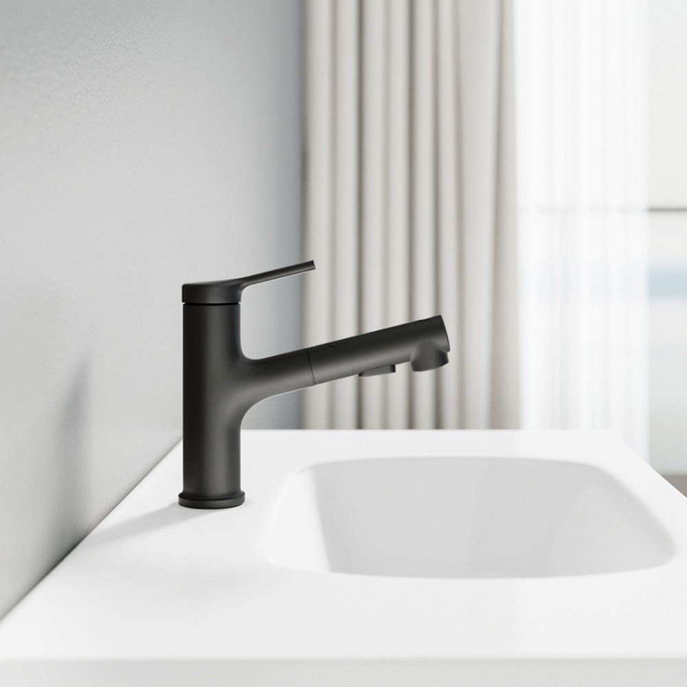 Xiaomi Bathroom Basin Faucet Single Lever Handle Mixer Tap w// Pull Down Sprayer