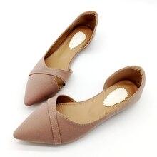 Zapatillas de Ballet suaves sin cordones para mujer, zapatos de señoras solteras, calzado negro, primavera y verano, 2020