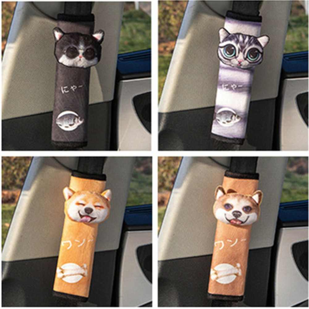 Auto Styling Seat Belt Cover Schouder Pad Cartoon Dier Schouder Protector Auto Accessoires Auto Veiligheid Riem Strap Harness Cover