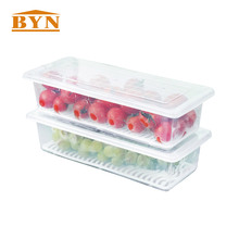 2PCS/PACK Clear Multi-functional Kitchen Vacuum Food Storage Box Organizer
