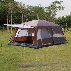 4 цвета ультра большой 6 10 12 двухслойный открытый 2 гостиные и 1 зал Семейный Кемпинг палатка в высокое качество большое пространство палатка