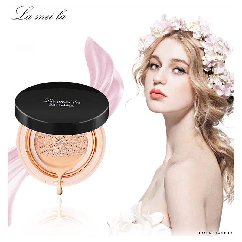 LAMEILA Air Cushion BB Cream Concealer Whitening Face Foundation Powder with Korean Imported Materials for Natural Nude Makeup in BB CC Creams from Beauty Health