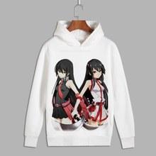 цена на Akame Ga Kill Cosplay Mine Esdeath Print Pullover hooded sweatshirts Unisex Akame Fleece Hoodies for Autumn