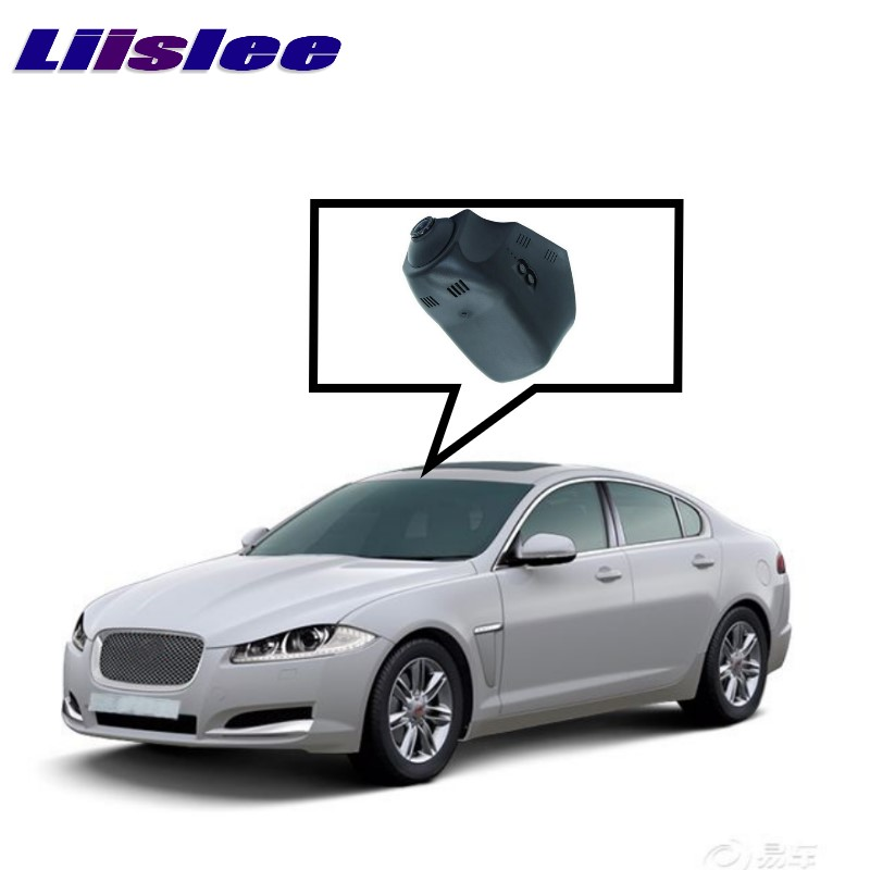 LiisLee Car Black Box WiFi DVR Dash Camera Video Recorder For Jaguar XE X760 XF X260 F-PACE X761 2015~2017 piano black car side fender cover trim 3d sticker for jaguar xe f pace xf xfl 2016 f pace car styling accessories