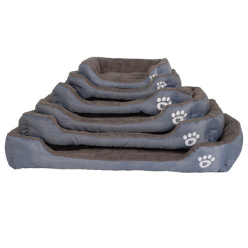 S-3XL 9 Colors Paw Pet Sofa Dog Beds Waterproof Bottom Soft Fleece Warm Cat Bed House Petshop Dropshipping 1
