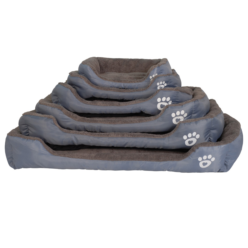 S 3XL 9 Colors Paw Pet Sofa Dog Beds Waterproof Bottom Soft Fleece Warm Cat Bed House Petshop Dropshipping cama perro in Houses Kennels Pens from Home Garden