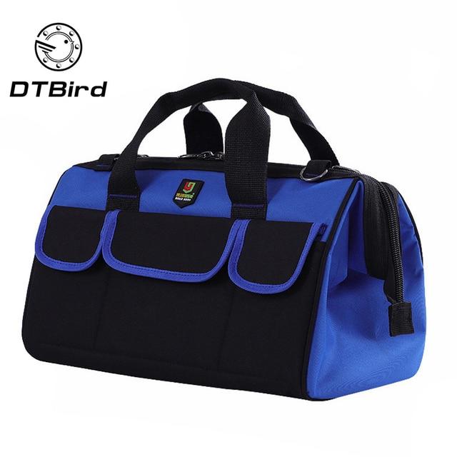 """1 Pc wodoodporna torby narzędziowe duża pojemność torba na narzędzia wielofunkcyjny pogrubienie pracy kieszonkowy zestaw narzędzi do naprawy 14 """"17 """"19"""""""