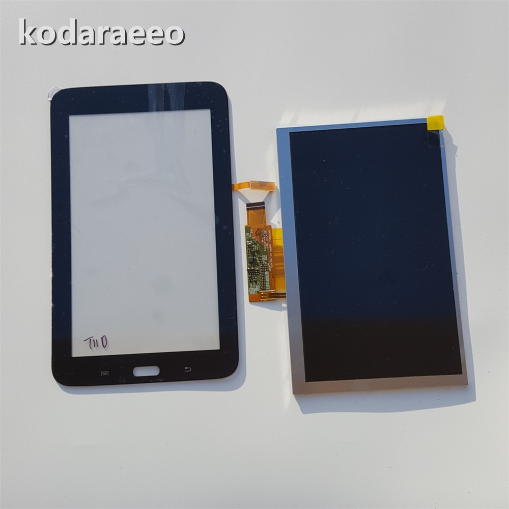 kodaraeeo For Samsung Galaxy Tab 3 Lite 7.0 T110 T111 SM-T110 SM-T111 Touch Screen Digitizer Panel+LCD Display Part