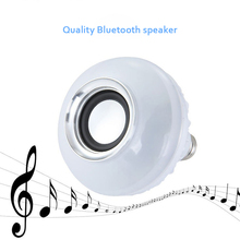 YCDC Smart LED Blub Light Wireless Bluetooth Speaker 110V-240V E27 12W Lamp Audio for iPhone iPad Smartphone with Remote Control