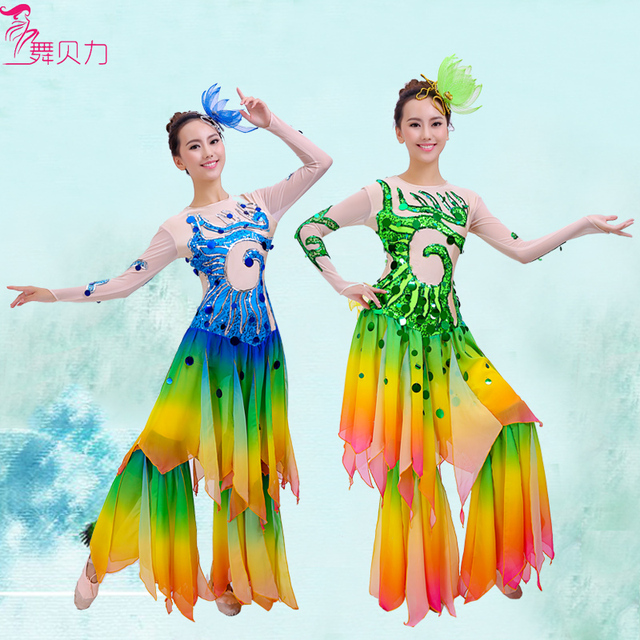 3230aaa4a8a0 woman sequins Thailand Dai dance clothing Mermaid cos Chinese classical  myth stage performance costume fish/