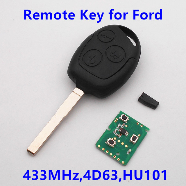 (For Ford) Car Remote Key 433MHz with 4D63 Chip HU101 Blade for Focus Fiesta Mondeo C MAX Fusion Transit KA Keyless Entry Fob