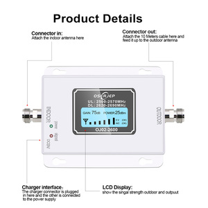 Image 2 - 4G LTE Signal Repeater Gain 70dB 4G LTE 2600Mhz Mobile Signal Booster 2600 lte cell phone signal amplifier with lcd display