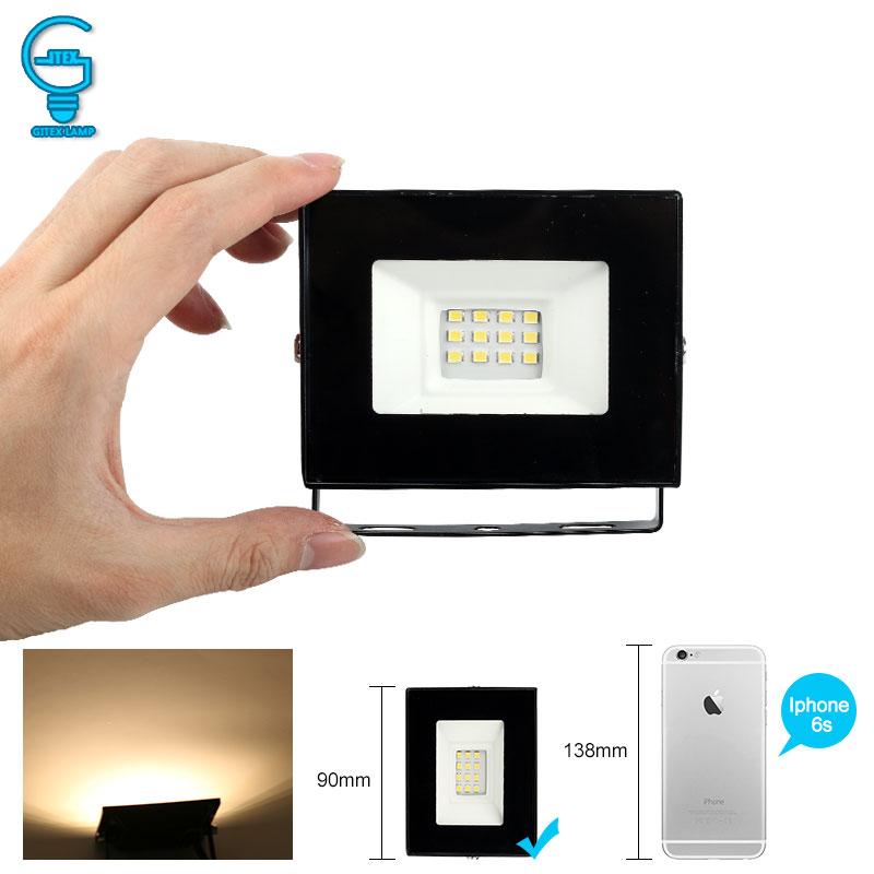 Mini LED Flood Light 10W Outdoor Floodlight 220V 240V Waterproof LED Reflector Spotlight Cold White Warm White LED Lighting