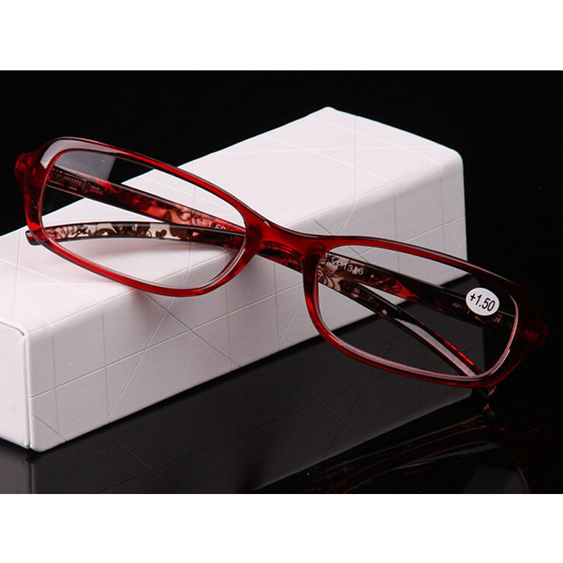 2016 TR90 Ultralight Plastic Frames Reading Glasses Women Presbyopic Eyeglasses Clear Lens Eyewear +1.0 +1.5 +2.0 +2.5 YJ073