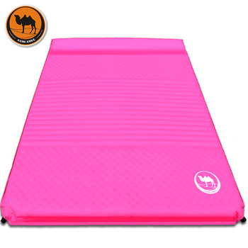 CS033-4 thick 5cm groove wave mattress automatic inflatable cushion outdoor camping inflatable mat