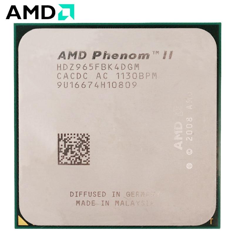 AMD Phenom II X4 965 CPU Socket AM3 125W 3.4GHz 938-pin Quad-Core Desktop Processor CPU X4 965 socket am3 1
