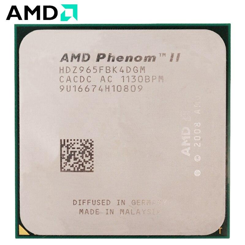 AMD Phenom II X4 965 CPU Socket AM3 125W 3.4GHz 938-pin Quad-Core Desktop Processor CPU X4 965 Socket Am3