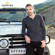 Supfire T Shirt Sports Fitness Gym T-shirt Men Henry Collar Running Cycling Fishing Quick Dry Long Sleeve Shirt Breathable C026 цены