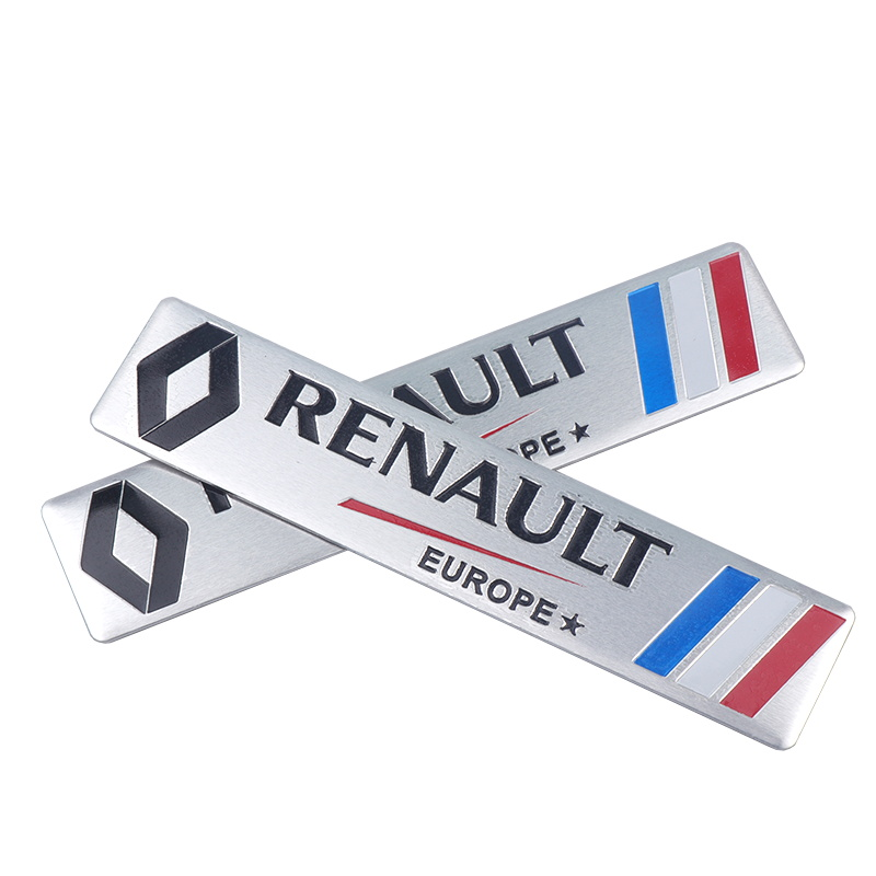 Image 1 - Car Styling 3D Aluminium Stickers Emblem Badge Decal For Renault Megane 2 3 Duster Logan Clio Laguna 2 Captur Body Decoration-in Car Stickers from Automobiles & Motorcycles