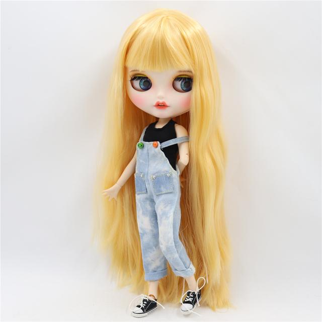Sophie - Gülümsəyən üzü olan geyimli Premium Xüsusi Blythe Doll