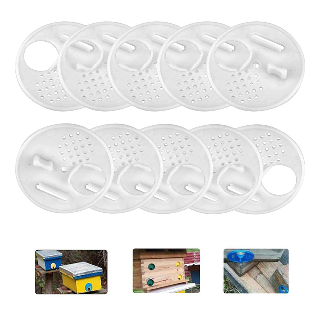 Image 4 - beekeeping supplies 20pc Plastic Bee Nest Door / Entrance Disc / Bee Hive Nuc Box Entrance Gate Tool Equipconvenient  product-in Beekeeping Tools from Home & Garden
