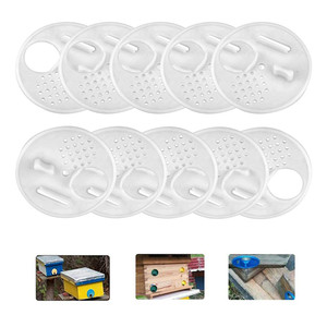 Image 4 - beekeeping supplies 20pc Plastic Bee Nest Door / Entrance Disc / Bee Hive Nuc Box Entrance Gate Tool Equipconvenient  product