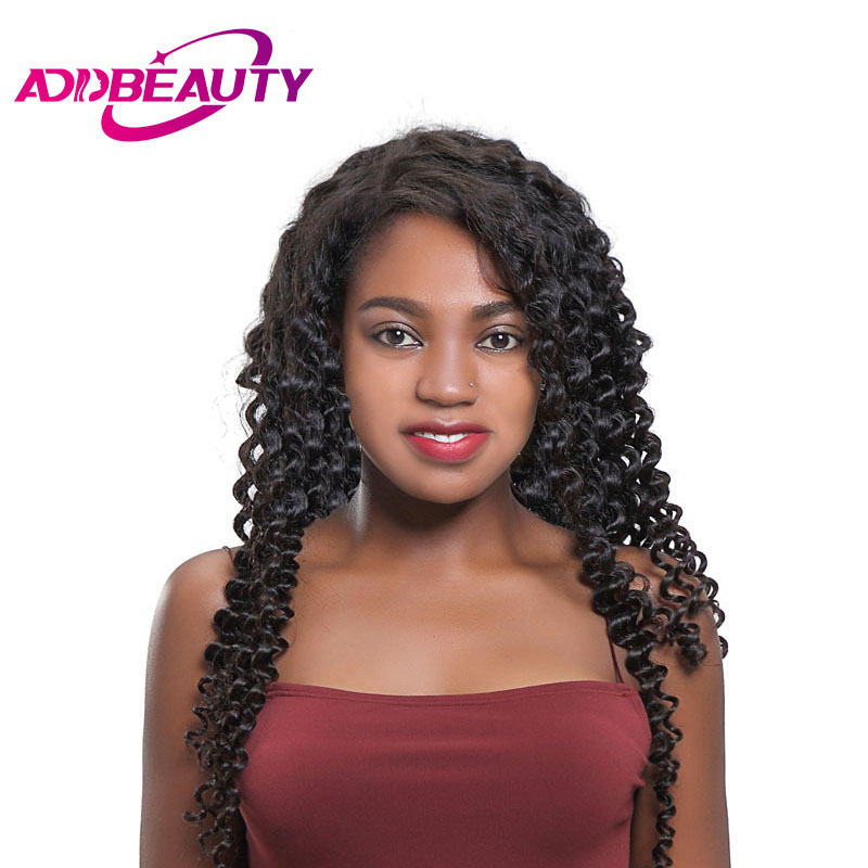 AddBeauty Brazilian Deep Wave Remy Hair Natural Color Human Hair Weave BundleCan Colored Light Brown Free
