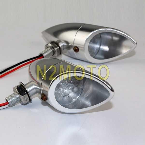 ターンライトオートバイターンシグナルライトインジケータウインカーランプ LED のためのシグナルライトクルーザーバイクチョッパー