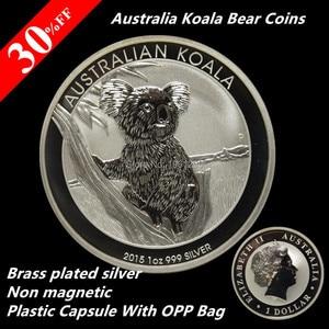 Австралийская монета Монета 1 Трой унции 999 долларов австралийские коала Медвежонок слитки 2015 - P