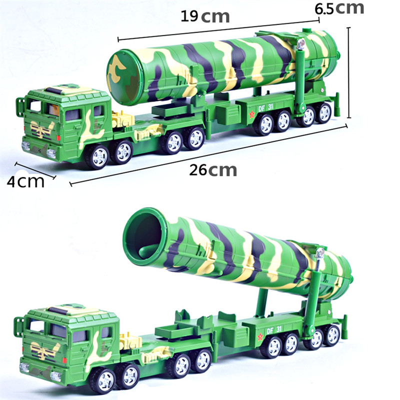 Kaidiwei 680051 Diecast Metal DF-31A Intercontinental  Ballistic Missile Truck Models, Simualtion ICBM Vehicles Kids Toys mirza muhammad masood akbar indian ballistic missile defence programme