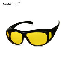 MASCUBE Men Women Sunglasses Unisex HD Yellow Night Vision Sunglass Polarized Goggles Car Driving Glasses Eyewear UV Protection