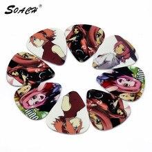 SOACH 10pcs/Lot 0.71mm thickness guitar strap guitar parts Hot Anime Sakura lead guitar picks
