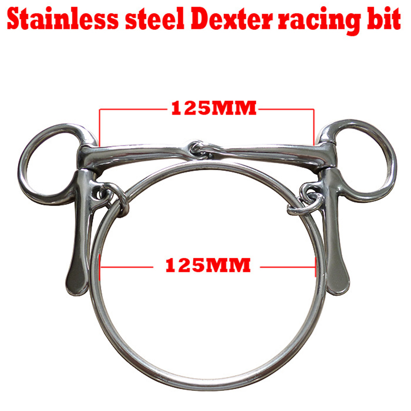 Stainless Steel Threaded Horse Mouth Chew Mouthpiece Equestrian Snaffle Double Jointed Bit Accessory