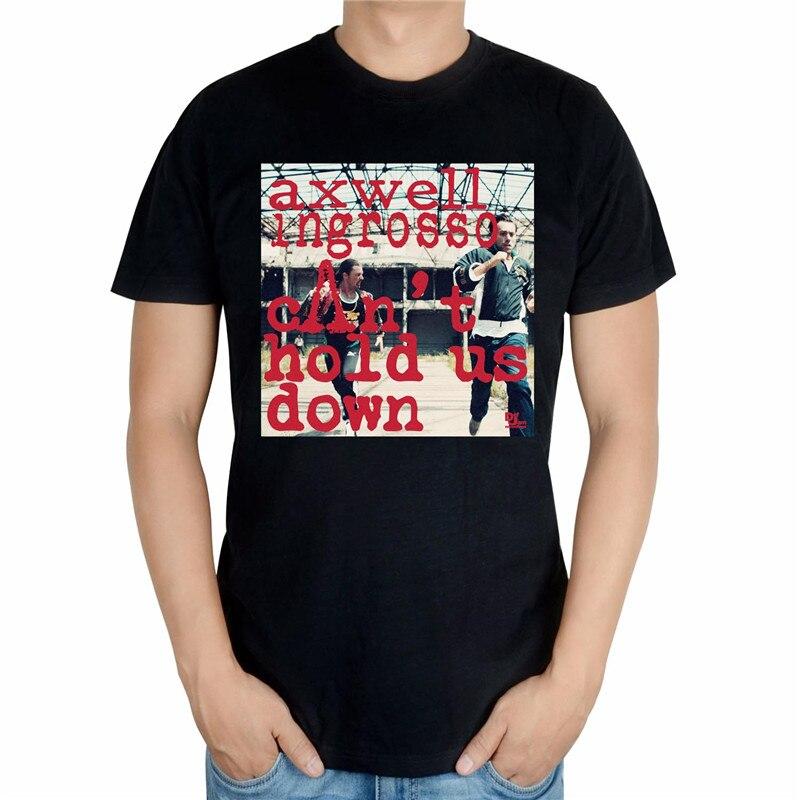 4 вида конструкций черный, белый цвет Летний Стиль Прохладный axwell ingrosso бренд певица DJ мастер ММА принт 3D хлопковая футболка музыка фитнес - Цвет: Черный