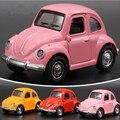 Aleación Retro Vintage Antiguo Coche VW Volkswagen Beetle Wecker Modelo Funde Vehículos Retroceso Juguetes Acústico-óptica Coche Juguetes