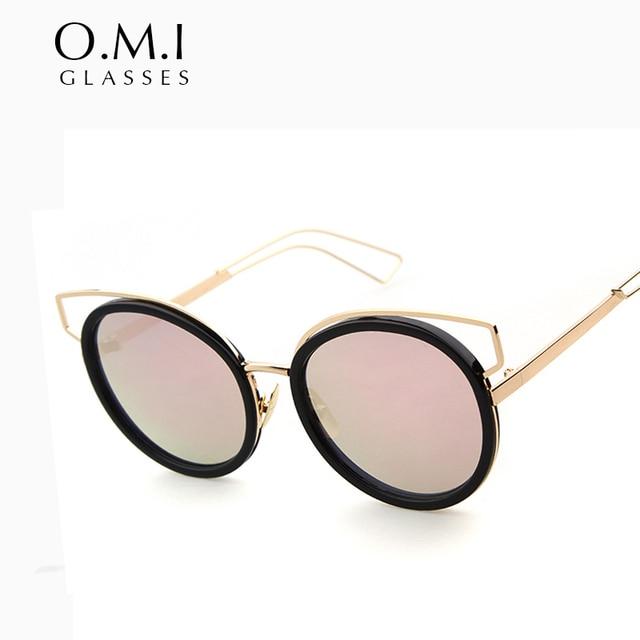 2f51840150 WHO CUTIE Versae Cateye Sunglasses 2017 Vintage Women UV400 Cat Eye Pink  Lens Glasses Tortoise shell Eyewear Goggle Brand OM84