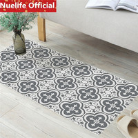 60x120cm black and white ceramic tile design wall stickers bathroom kitchen store living room entrance anti skid floor stickers