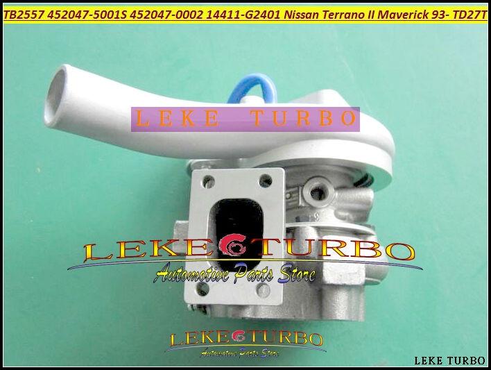 TB2557 452047  452047-0002 452047-5001S 452047-0001 14411G2401 14411-G2401 For Nissan Terrano II Maverick 1993- TD27TD TD27 2.7L free ship turbo for nissan terrano ii pathfinder 01 05 td27ti 2 7l gt2052s 722687 14411 7f411 722687 5001s turbocharger gaskets
