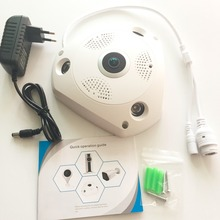 HD 960P 360 Degree Fisheye Panoramic Built-in Mic WiFi P2P Network IP Camera add SD Card slot Home Security System
