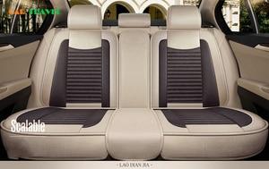 Image 3 - Car Seat Cover Flax universal seat cushion Car Styling For Skoda Octavia Fabia Superb Rapid Yeti Spaceback Joyste Jeti Stickers